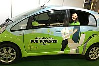 POO powered car hits the streets of Brisbane