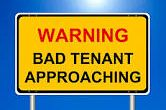 Signs of a bad tenant