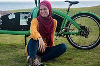 Brisbane mum Renee Dikeni ditches car and embraces bike transport 'for the environment'