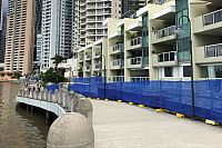 Defects, cracks in structure that supports Brisbane Riverwalk section